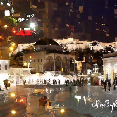 Nuit d'Athènes à Monastiraki