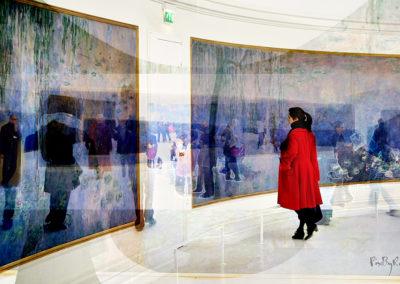 Monet sous le regard du petite chaperon rouge chez Monet