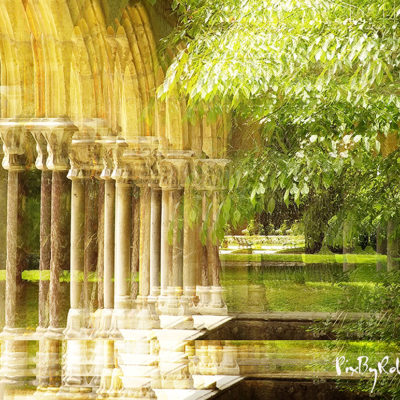 Le cloitre de l'abbaye de St Sever de Rustang