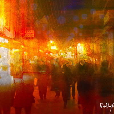 Tarbes rue Brauhauban la nuit