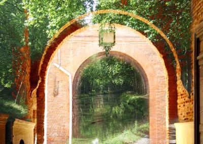 L'eau verte et les briques
