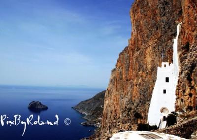 Amorgos monastère de la Panaghia Chossoviotissa