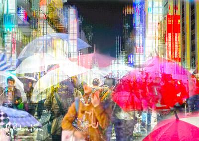 Shibuya et Ginza, Tokyo sous la pluie