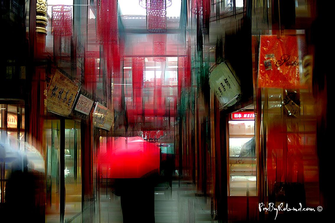 Shanghai sous la pluie