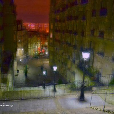 Montmartre et les lumières de Paris