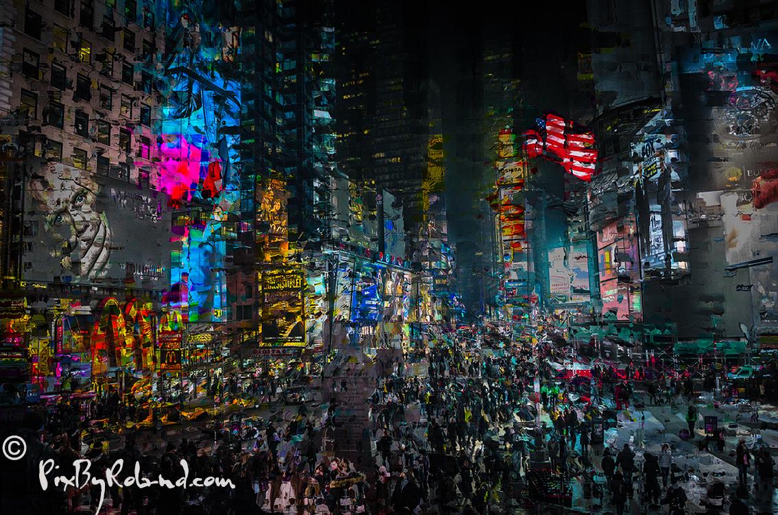 Nuit à time square
