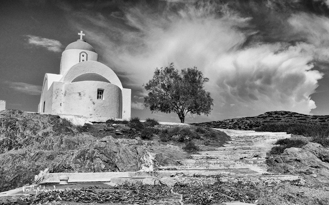 Mystérieuse Amorgos en noir et blanc